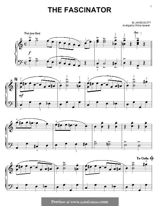 The Fascinator: Para Piano by James Scott