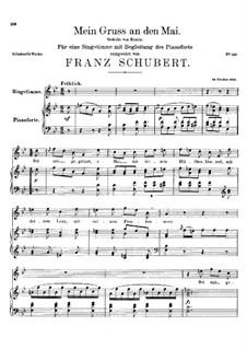 Mein Gruss an den Mai (My Greeting to May), D.305: B flat Maior by Franz Schubert