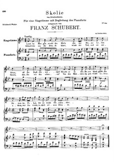 Skolie (Drinking Song), D.306: B flat Maior by Franz Schubert
