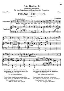 An Rosa (To Rosa), D.315: A flat Major by Franz Schubert