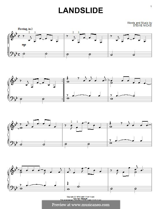 Landslide (Fleetwood Mac): Para Piano by Stevie Nicks