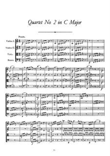 String Quartet No.2 in C Major, D.32: String Quartet No.2 in C Major by Franz Schubert