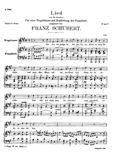 Song for Voice and Piano, D.362: A maior by Franz Schubert
