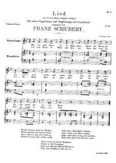 Mutter geht durch ihre Kammern (Mother Goes Through Her Rooms), D.373: G minor by Franz Schubert