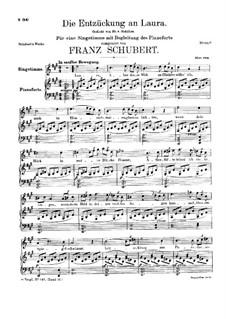 Die Entzückung an Laura (Enchanted by Laura), D.390: A maior by Franz Schubert