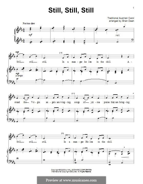 Still, Still, Still: Para vocais e piano by folklore