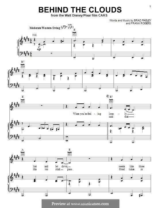 Behind the Clouds: Para vocais e piano (ou Guitarra) by Frank Rogers