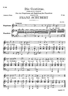 Die Gestirne (Constellations), D.444: Pano-vocal score by Franz Schubert