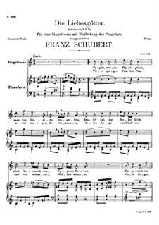 Die Liebesgötter (Gods of Love), D.446: C maior by Franz Schubert