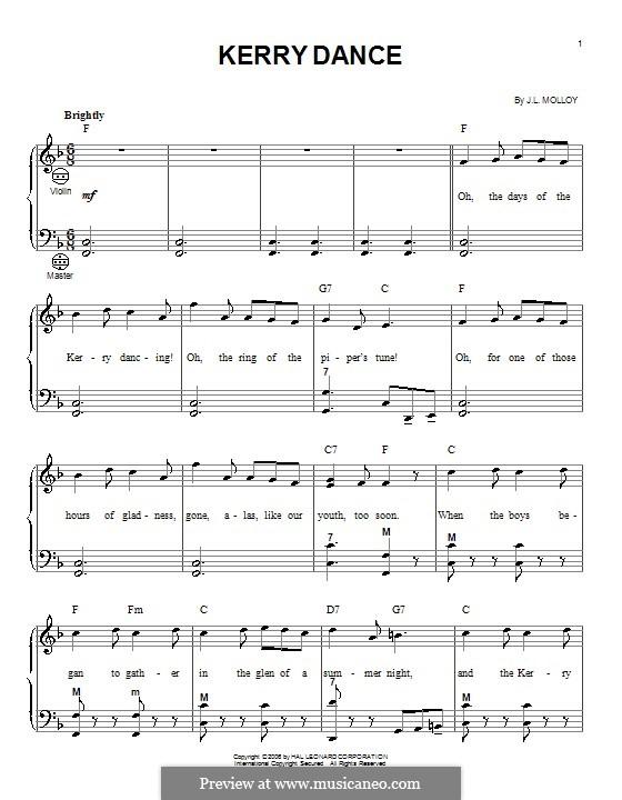 The Kerry Dance: para acordeão by James L. Molloy