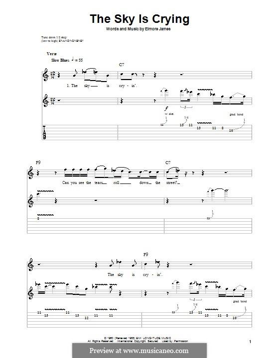 The Sky Is Crying: Para guitarra com guia by Elmore James
