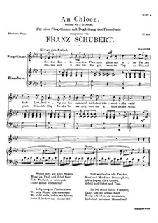 An Chloen (To Chloe), D.462: A flat Major by Franz Schubert