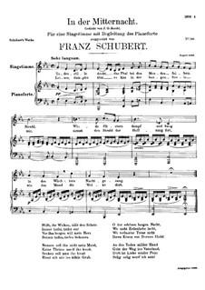 In der Mitternacht (At Midnight), D.464: E flat maior by Franz Schubert