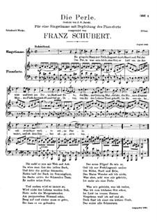 Die Perle (Pearl), D.466: D minor by Franz Schubert