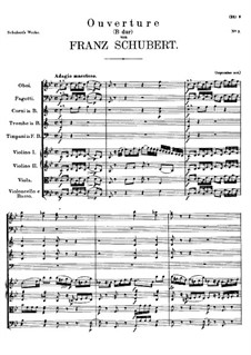 Overture for Orchestra in B Flat Major, D.470: Overture for Orchestra in B Flat Major by Franz Schubert
