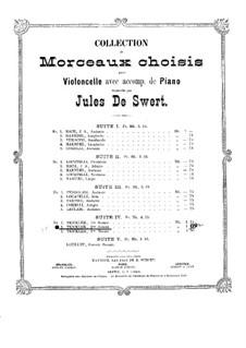 Sonata for Cello and Piano No.2: Sonata for Cello and Piano No.2 by Jean Balthasar Tricklir
