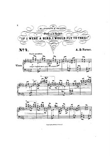 Six Concert Etudes: No.4 Etude a la Henselt 'If I were a bird, I would fly to thee!' by Alfred Dudley Turner