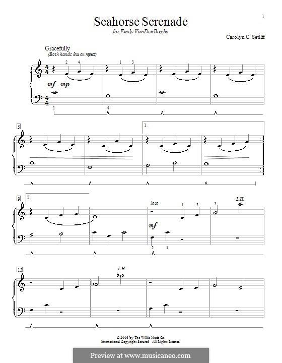 Seahorse Serenade: Para Piano by Carolyn C. Setliff
