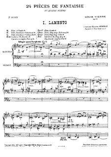 Suite No.2 for Organ, Op.53: para um único musico (Editado por H. Bulow) by Louis Vierne