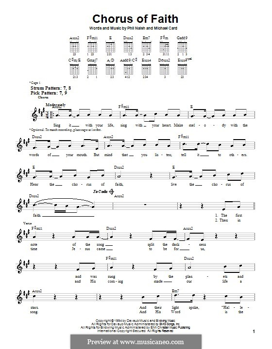 Chorus of Faith: Para guitarra (versão facil) by Phil Naish
