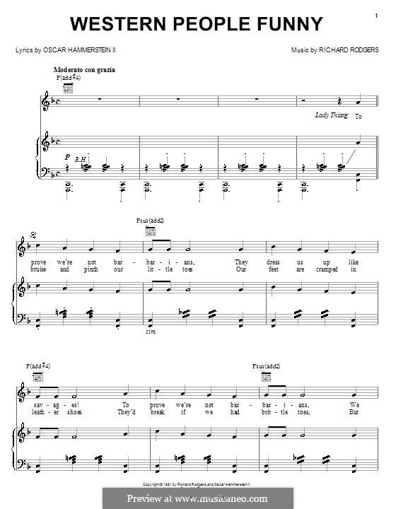 Western People Funny: Para vocais e piano (ou Guitarra) by Richard Rodgers