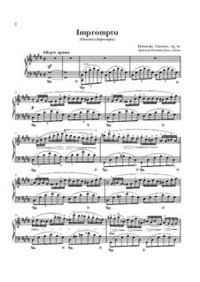Fantasia-Impromptu in C Sharp Minor, Op.66: para piano (partituras de alta qualidade) by Frédéric Chopin