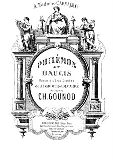 Philémon et Baucis (Philemon and Baucis): partitura para piano by Charles Gounod