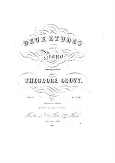 Two Etudes for Piano, Op.1: Two Etudes for Piano by Louis Théodore Gouvy