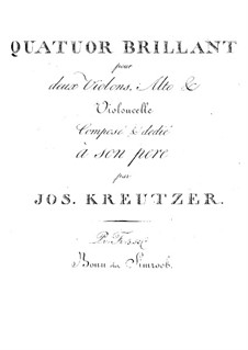 Quartet for Strings in A Major: Quartet for Strings in A Major by Joseph Kreutzer