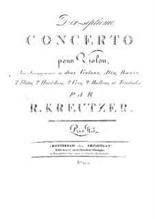 Violin Concerto No.17: Violin Concerto No.17 by Rodolphe Kreutzer