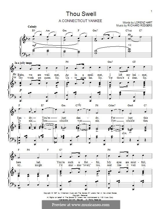 Thou Swell: Para vocais e piano (ou Guitarra) by Richard Rodgers