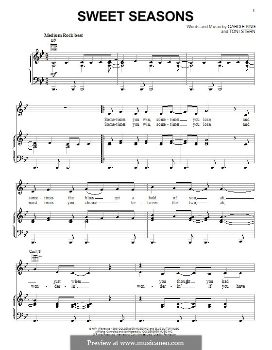 Sweet Seasons: Para vocais e piano (ou Guitarra) by Toni Stern