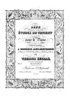 Two Concert Etudes, Op.2: Para Piano by Theodor Kullak