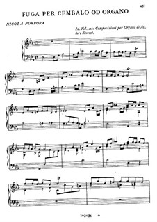 Fugue for Harpsichord or Organ: Fugue for Harpsichord or Organ by Nicola Porpora