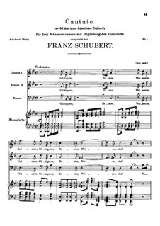 Contribution to the Fiftieth Anniversary of Herr von Salieri's. Cantata, D.441: Contribution to the Fiftieth Anniversary of Herr von Salieri's. Cantata by Franz Schubert
