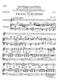 Der Sänger am Felsen (The Singer on the Rock), D.482: E minor by Franz Schubert