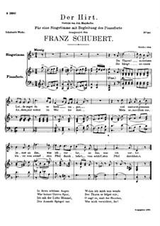 Der Hirt (The Shepherd), D.490: D minor by Franz Schubert