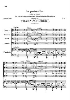 La Pastorella, D.513: C maior by Franz Schubert