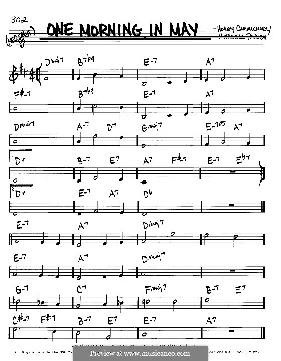 One Morning in May: melodia e acordes - Instrumentos C by Hoagy Carmichael