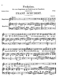 Frohsinn (Cheerfulness), D.520: F Maior by Franz Schubert