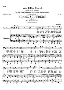 Wie Ulfru fischt (Ulfru Fishing), D.525 Op.21 No.3: D minor by Franz Schubert