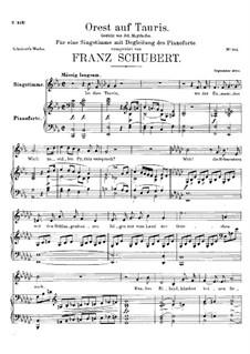 Orest auf Tauris (Orestes on Tauris), D.548: Para vocais e piano by Franz Schubert