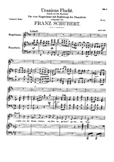 Uraniens Flucht (Urania's Flight), D.554: Para vocais e piano by Franz Schubert