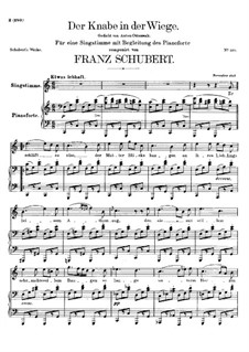 Der Knabe in der Wiege (The Infant in the Cradle), D.579: C maior by Franz Schubert