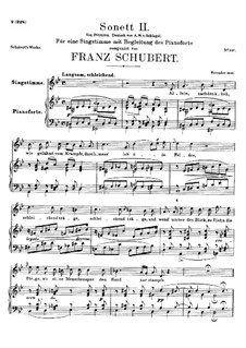 Sonnet No.2 in G Minor, D.629: Para vocais e piano by Franz Schubert