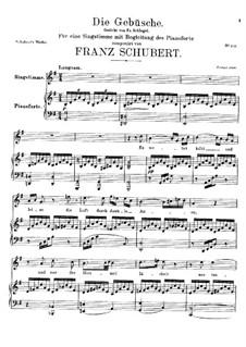 Die Gebüsche (The Bushes), D.646: G maior by Franz Schubert