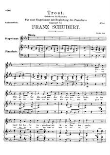 Trost (Consolation), D.671: E flat maior by Franz Schubert