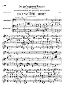 Die gefangenen Sänger (The Captive Singers), D.712: G Major by Franz Schubert