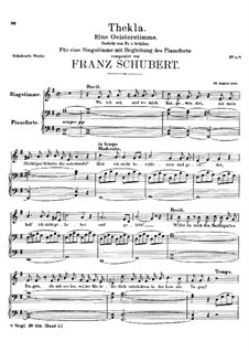 Thekla. A Spirit Voice, D.73: Thekla. A Spirit Voice by Franz Schubert