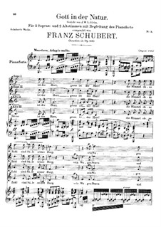 Gott in der Natur (God in Nature), D.757 Op.133: Gott in der Natur (God in Nature) by Franz Schubert